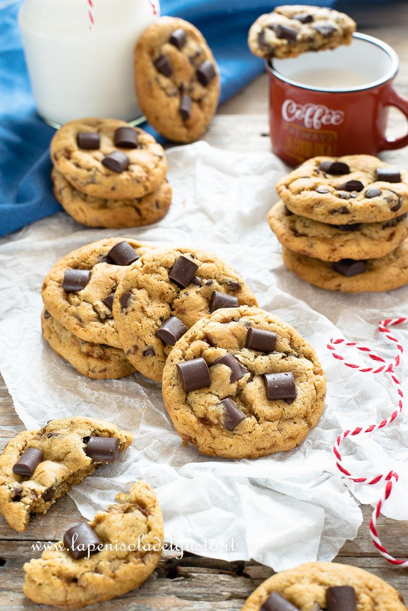 Ricetta Cookies Facile E Veloce.Cookies Americani La Ricetta Originale Facilissima