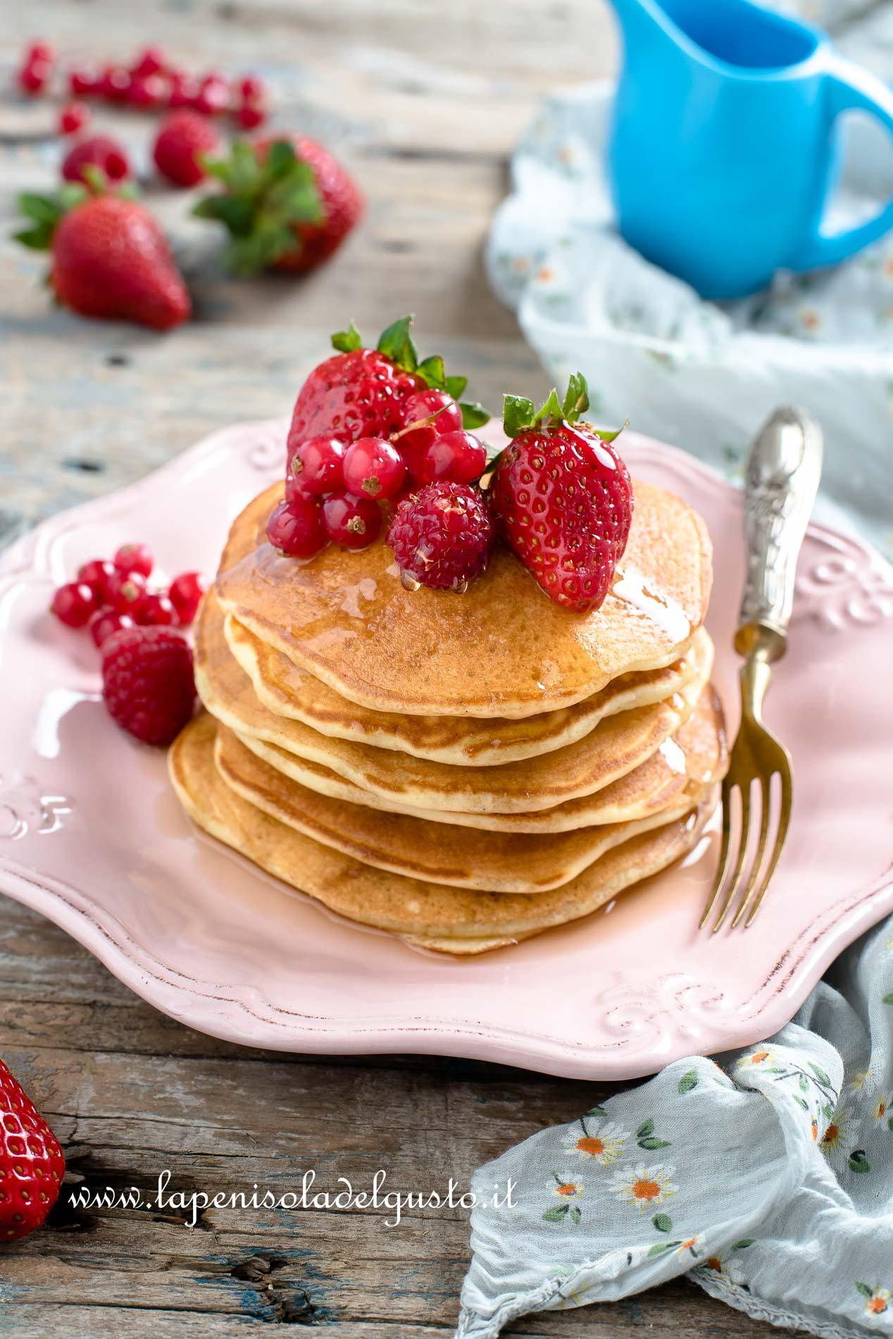 Ricetta Pancake Originali Americani.Pancake Americani La Ricetta Perfetta Con Foto Passo A Passo