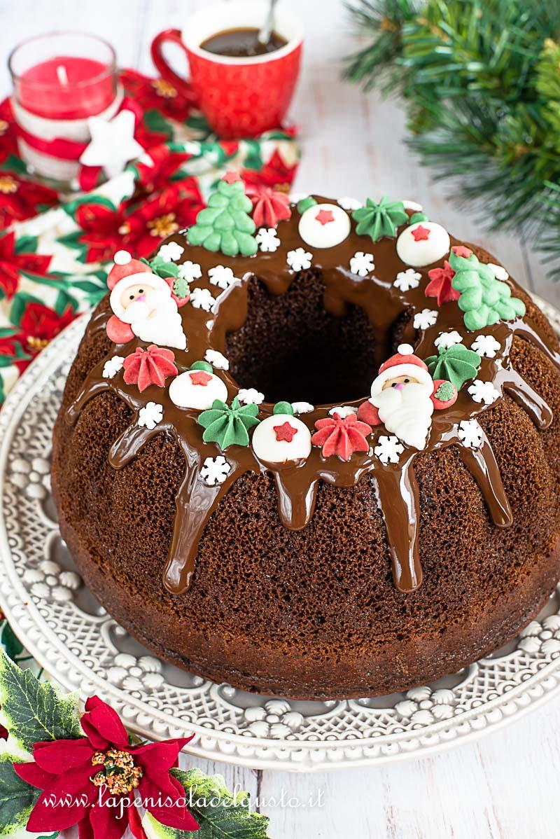 Torte Decorate Per Natale torta di natale semplice (dolce facile al cacao con
