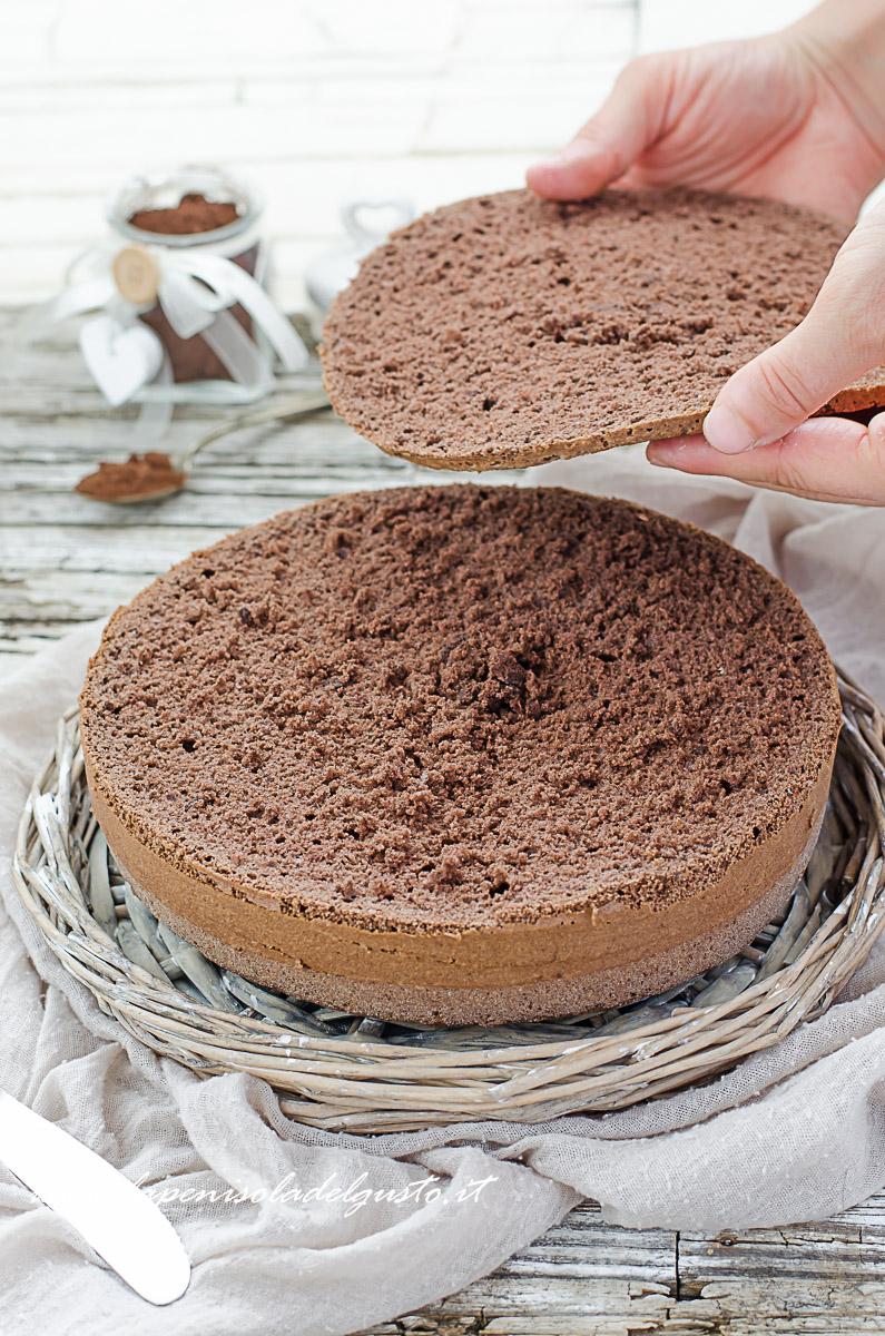 Ricetta Pan Di Spagna Al Cioccolato Al Latte.Pan Di Spagna Al Cacao Facile Da Tagliare Per Torte Golosissime